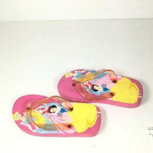Disney Girls Princess Flip Flops Pink Size 4.5